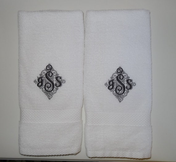 Personalized Hand Towel Monogrammed Hand Towel Fancy