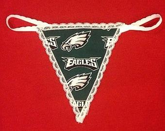 b9132aedf34 Womens PHILADELPHIA EAGLES G-String Thong Female Lingerie Football  Underwear Nfl