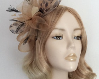 LEOPARD and COFFEE Crin Fascinator 22ad033d653
