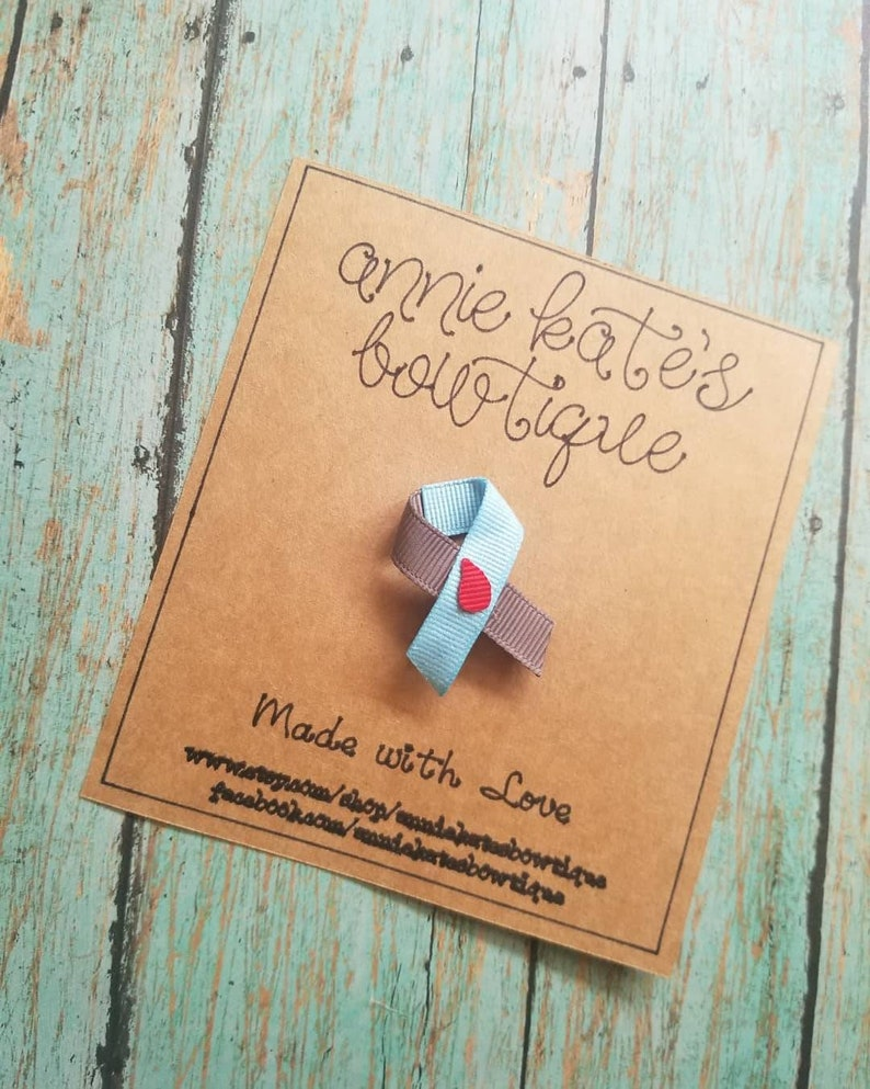 Type 1 Diabetes   awareness ribbons   hair clips   pins
