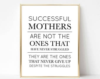 successful mothers digital print best mom printable gift best mom quote gift mothers day gift mothers day quote