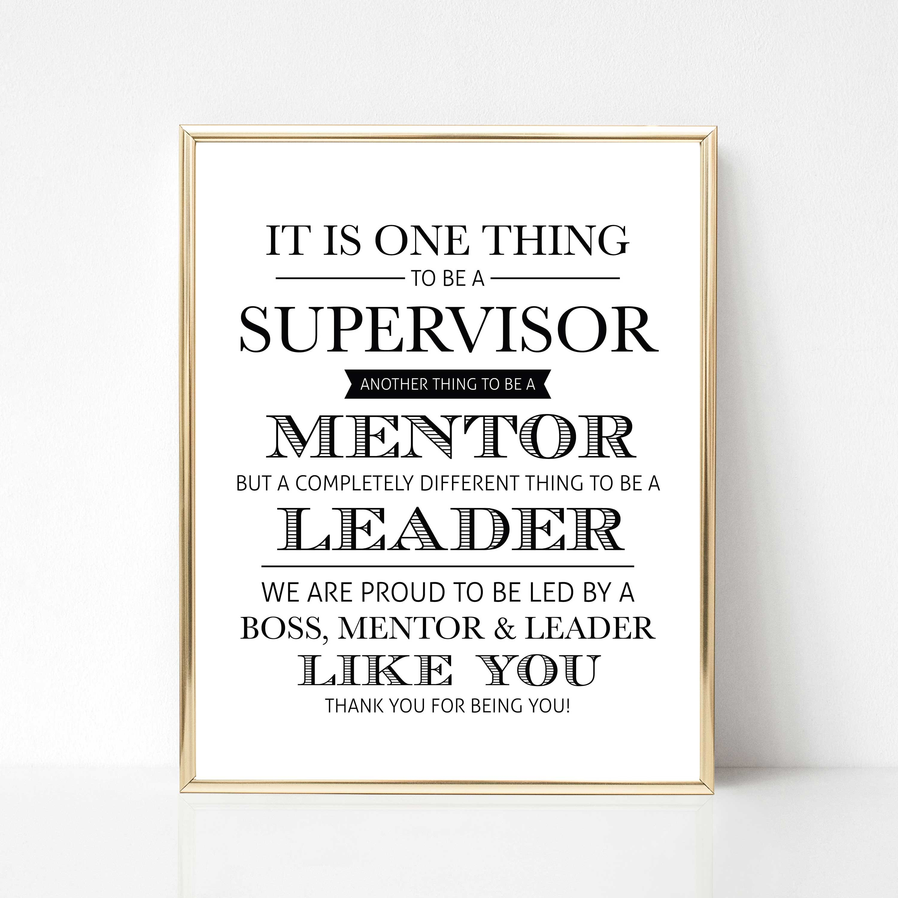 Digital Supervisor Quote Gift We Version Best Boss Quote Etsy