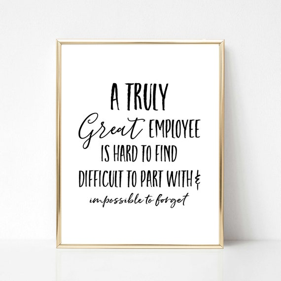 a truly great employee printable gift employee