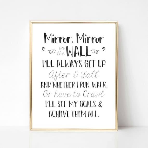 Citation Miroir Miroir Fr Citation De Motivation En Anglais Citation D Inspiration En Anglais Art Du Mur Wall Art Décor De Bureau