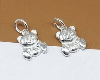 9eef1e423 discount code for 4 sterling silver tiny panda charm panda charm for  necklace bracelet earring 925