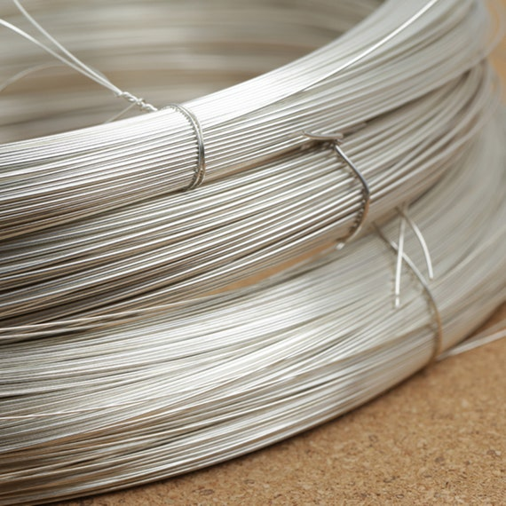 925 Sterling Silver Round  Half Hard Wire Per 5 Feet Length