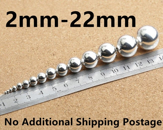 Made In USA Pack Of 100 Sterling Silver 1.8 MM Round Seamless Hollow Beads
