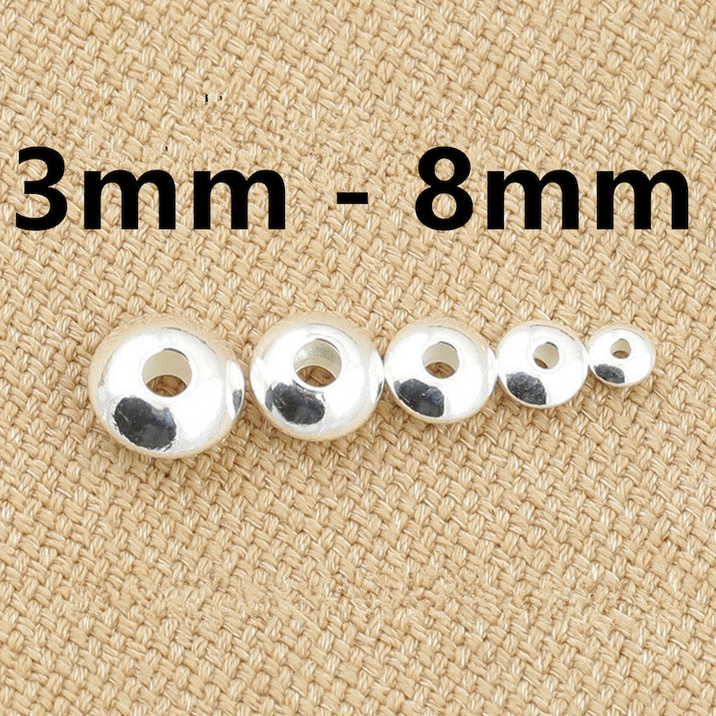 10 Sterling Silver UFO Saucer Beads 925 Silver Bracelet Spacers