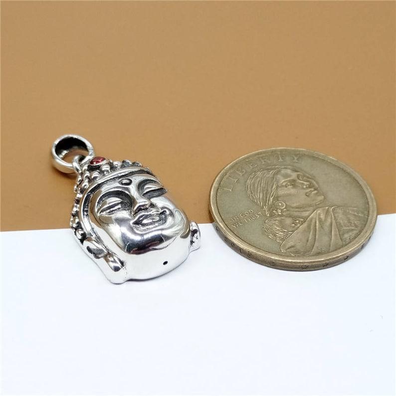 925 Silver Buddha Buddhism Statue Figure Pendant 6.8 grams LA541 Sterling Silver Statue Pendant Sterling Silver Buddha Pendant