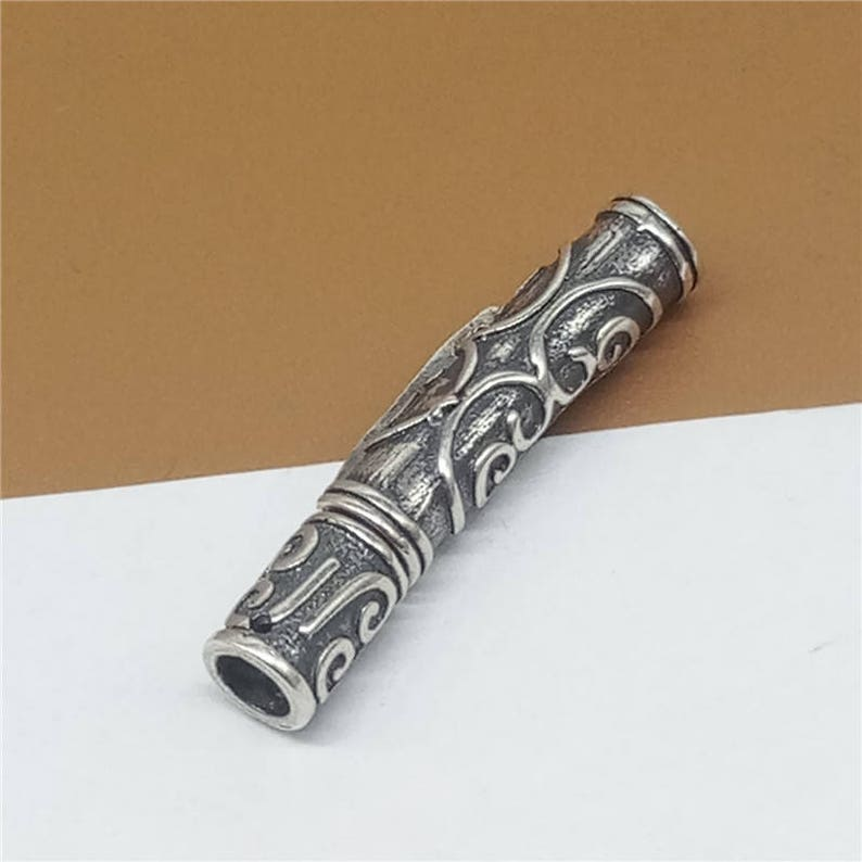 Sterling Silver Bayonet Clasp Glue-in Clasp Tube Clasp 925 Silver Bayonet Clasp Clasp for Leather Cord Snap Clasp