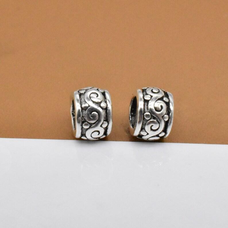 Tire Bracelet Bead Spacer Bead Necklace Bead Bracelet bead 925 Silver Spiral Bead Swirl Bead 12 Sterling Silver Tiny Swirl Beads