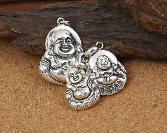 LA722 Buddhism Pendant Sakyamuni Statue Pendant 925 Silver Buddha Pendant Sterling Silver Buddha Pendant 13 grams