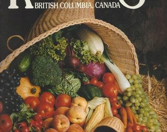 Recipes of British Columbia, Canada, Vol. 1 1984 Color Photos of BC