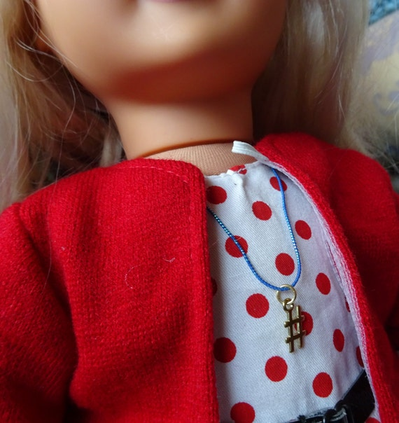 scraf /& Cappello Vestiti per bambola 18 pollici La nostra generazione American Girl Viola Cappotto