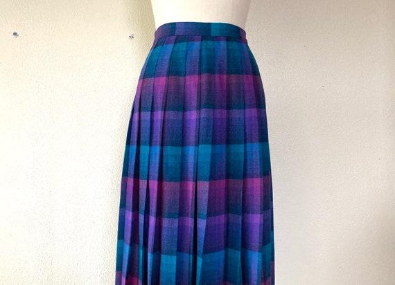 1970s Pendleton pleated wool midi skirt