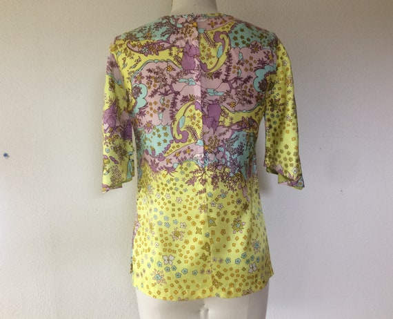 SALE 1960s Psychedelic print blouse - image 5