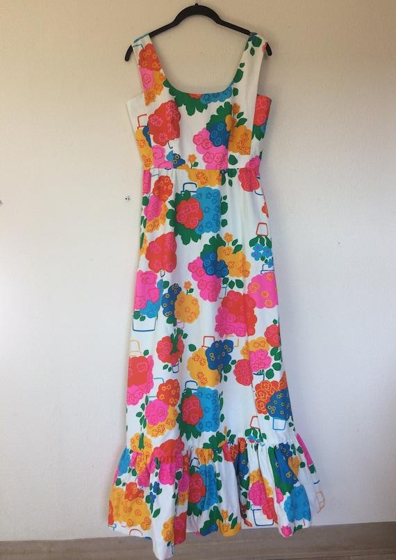 1960s Malia floral maxi dress - image 6