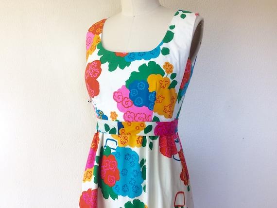 1960s Malia floral maxi dress - image 1