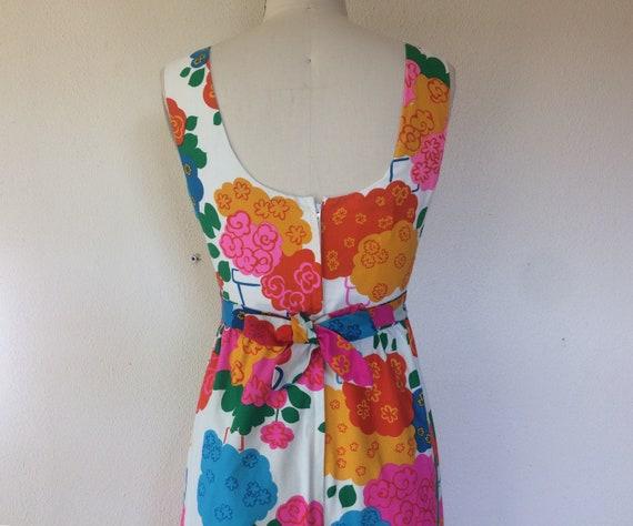 1960s Malia floral maxi dress - image 4