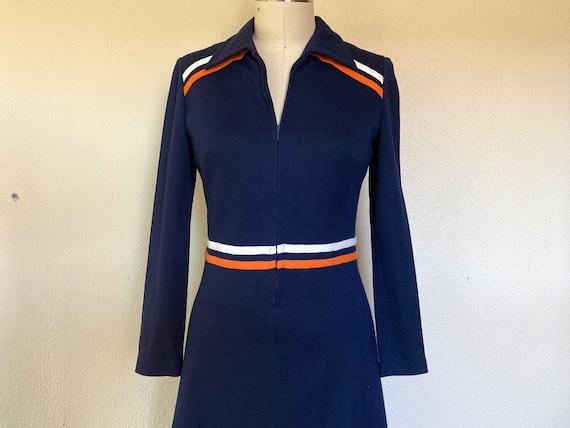 1960s Mod dress with stripes
