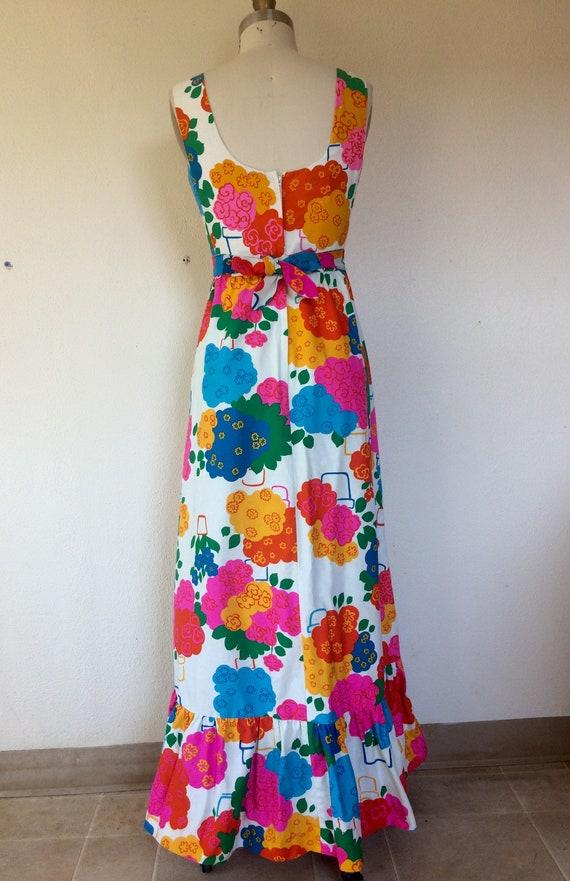 1960s Malia floral maxi dress - image 5