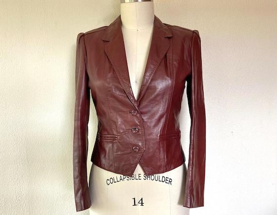 1970s Wilsons leather blazer jacket