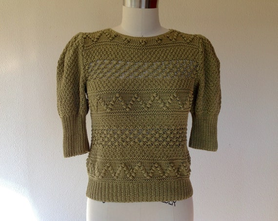 1980s Textured knit sweater