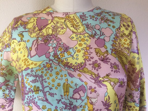 SALE 1960s Psychedelic print blouse - image 3