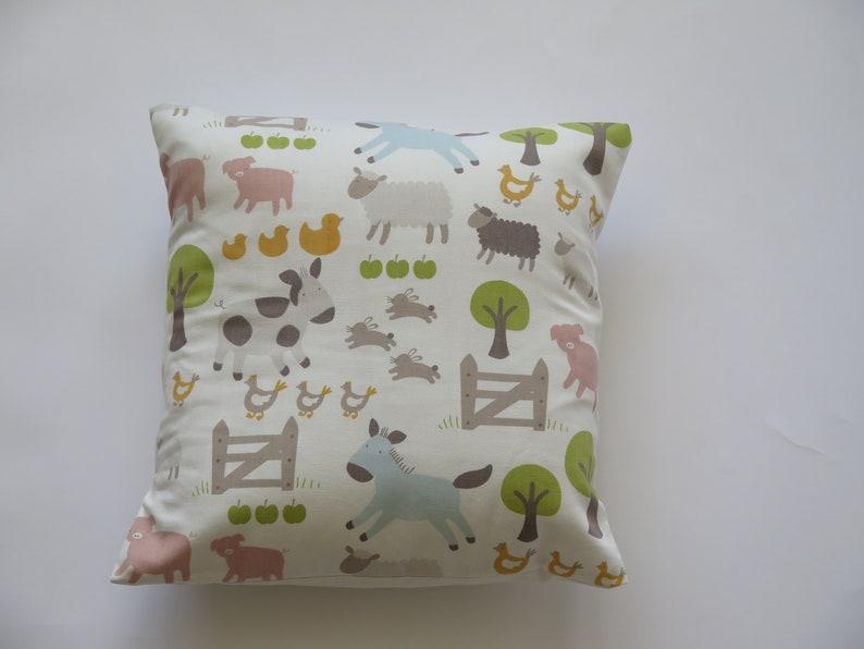 Farm Yard Decorative Pillows Cushion Covers Uk Pillow Case Nursery Children S Home Decor Sofa Couch 16x16 14x14 12x12 British Made