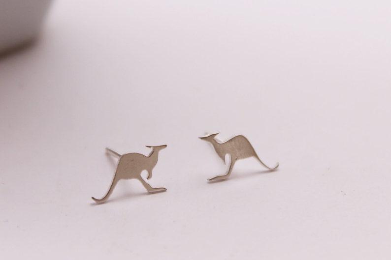 Kangaroo Earrings Australian Jewelry Australian Animal Earrings Silver Kangaroo Studs Kangaroo Studs Handmade from Sterling Silver