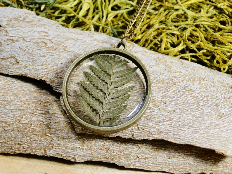 Real Fern Necklace real fern real fern jewelry botanical image 0