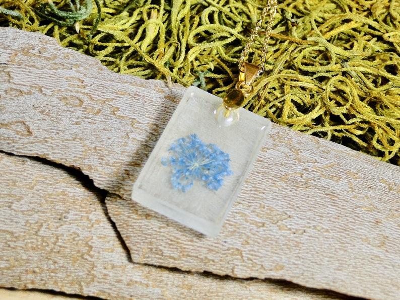 Real Flower Necklace blue flower necklace real flower image 0
