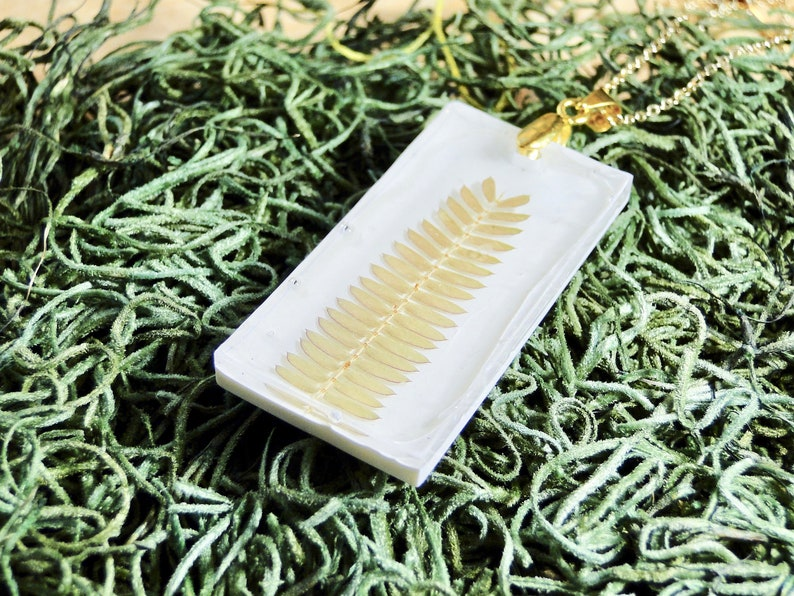 Real Fern Necklace gold fern necklace real fern jewelry image 0