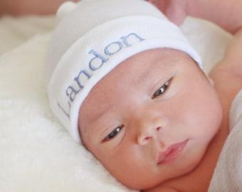 Newborn Boy Hat, Baby Boy Hat, Personalized baby boy hat, Personalized baby Boy Gift