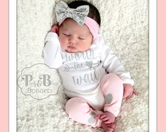 47677b2319cb Baby girl coming home outfit