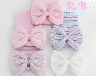 newborn hat baby girl hat baby hat newborn hospital hat newborn girl hat infant beanie baby hospital hat bow girl hats pink baby girl hat