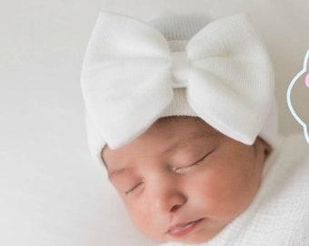 e5630c6c4f6 White Newborn GIRL HATS