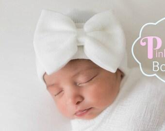 5428711484b White Newborn GIRL HATS