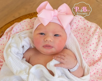 Baby Hat Baby Girl Hat with Bow Baby Hat with Bow Baby Hat Girl Beanie Pink Baby  Hat Newborn Baby Hat Pink Newborn Baby Hat Pink Baby Hat 55fe98d7773