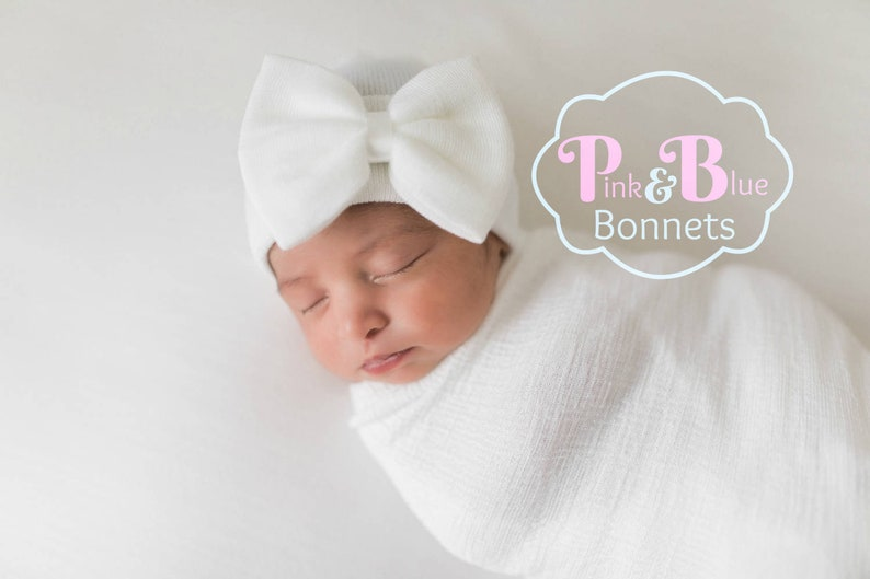 White Newborn GIRL HATS baby girls newborn hat baby girl  7359ef223533