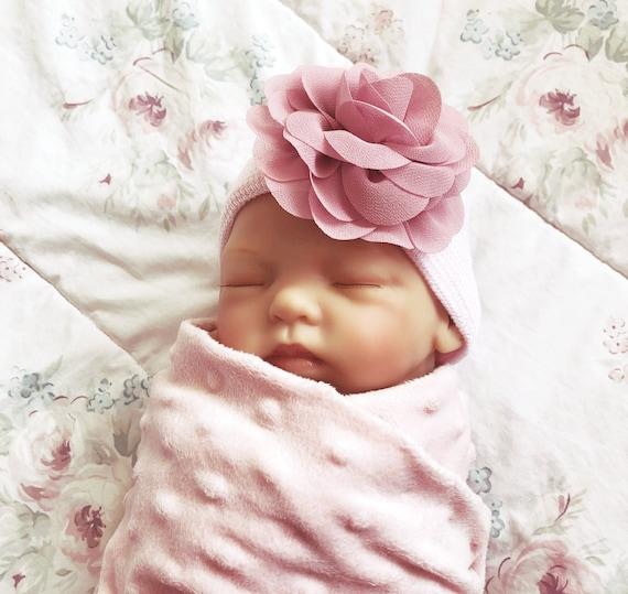newborn beanie Beauty and the Beast Newborn hat Baby hospital hat newborn girl hat hospital bow hat hospital cap newborn hat baby hat