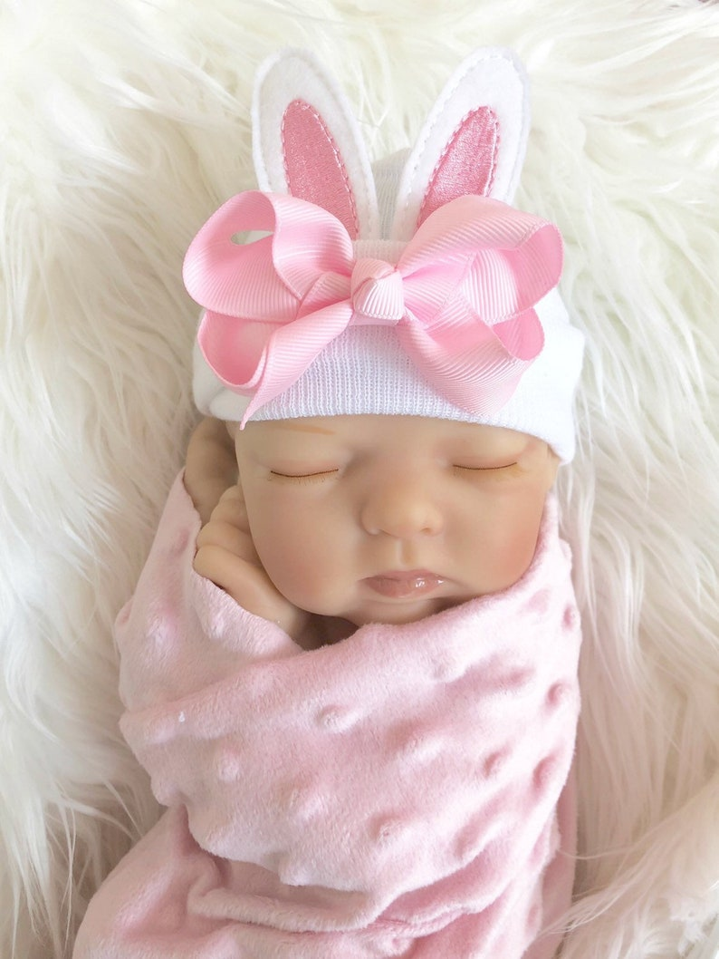 a1f6558ef6b Newborn Girl Easter Hat Easter newborn outfits for baby