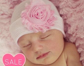 newborn hat baby girl hat baby hat newborn hospital hat newborn girl hat infant beanie baby hospital hat bow girl hats pink baby girl hat