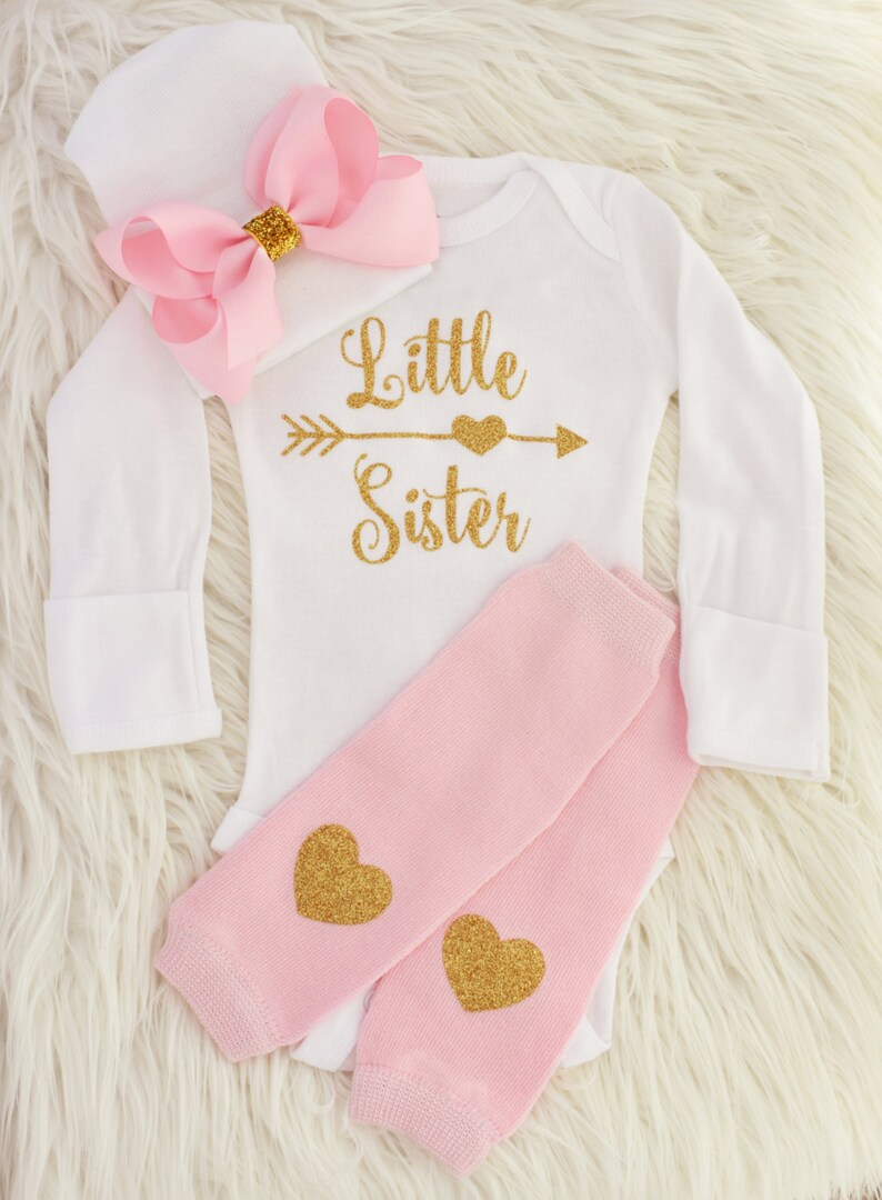 592955facd60 Little sister outfit baby girl coming home outfit little | Etsy