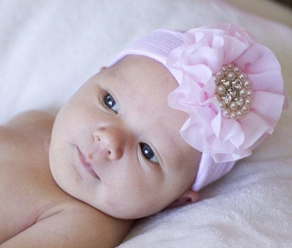Baby beanie newborn girl beaniesBaby Girl Hospital Hat  457e58f28e4