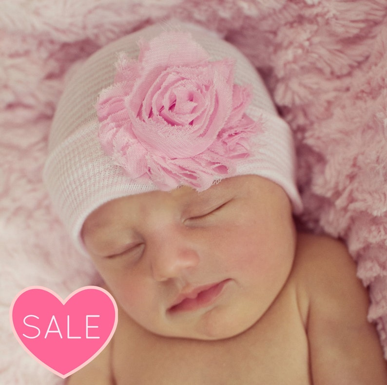 b2d8b827417 Newborn outfit girl hospital beanie coming home outfit baby