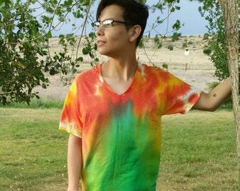 Northern Lights Aurora Borealis Tie Dye Medium Shirt