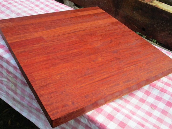 Butcher block Top Excellent Bubinga  hardwood,extremely heavy butcher block has figuring in wood and Very Handsome Rare one of a  kind