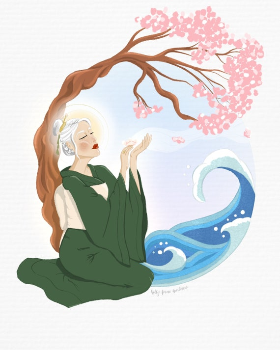 Mother Sends Her Blossoms on the Waves and the Winds