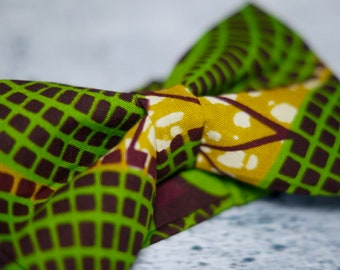 Nhenhere African Print Bowtie & Pocket Square Set